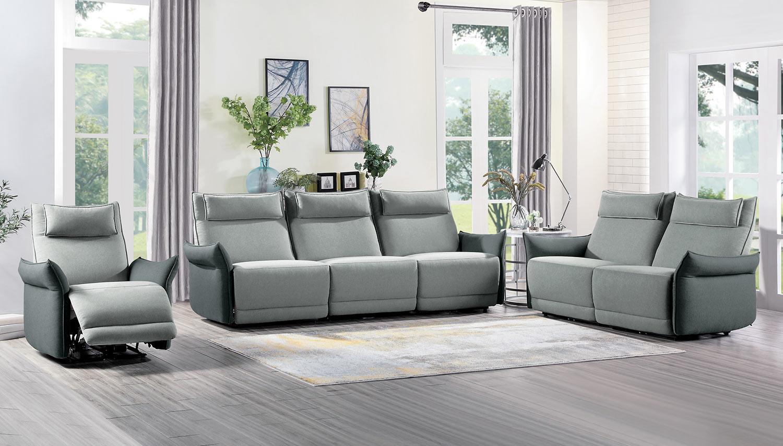 Homelegance Linette Power Reclining Sofa Set - Gray