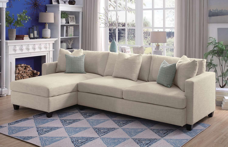 Homelegance Southgate Sectional Sofa Set - Ivory