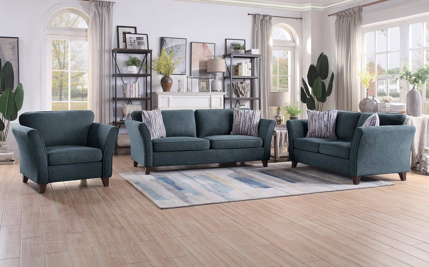 Homelegance Barberton Sofa Set - Dark gray