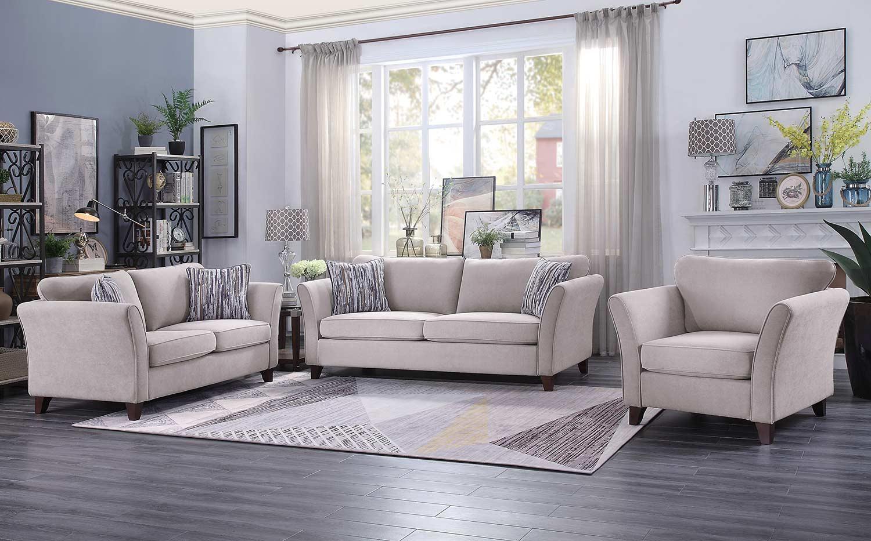 Homelegance Barberton Sofa Set - Mushroom