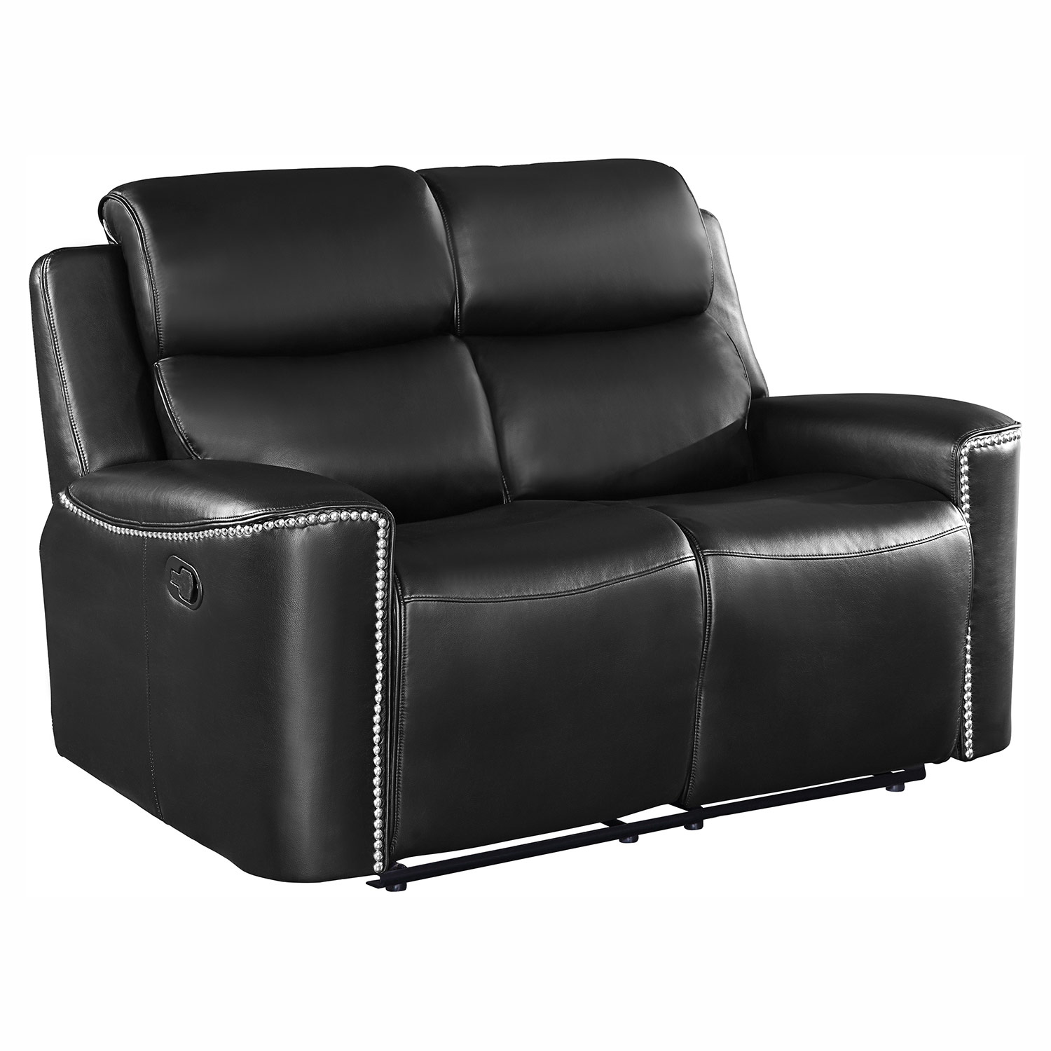 Homelegance Altair Double Reclining Love Seat - Black