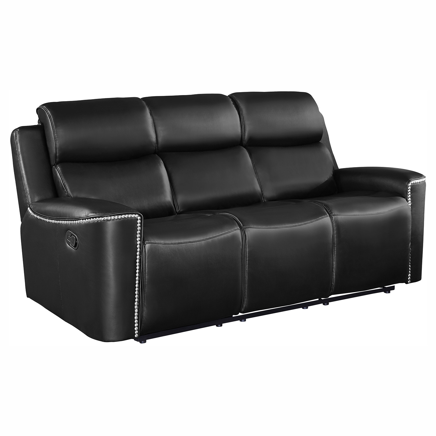 Homelegance Altair Double Reclining Sofa - Black
