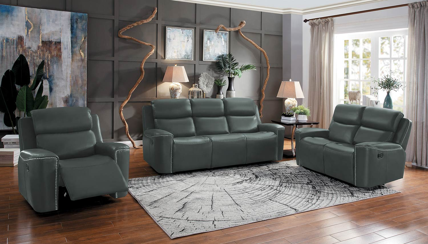 Homelegance Altair Reclining Sofa Set - Gray