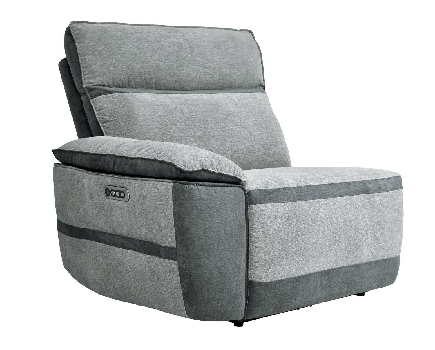 Homelegance Hedera Power Left Side Reclining Chair with Power Headrest and Power Lumbar Support - Gray