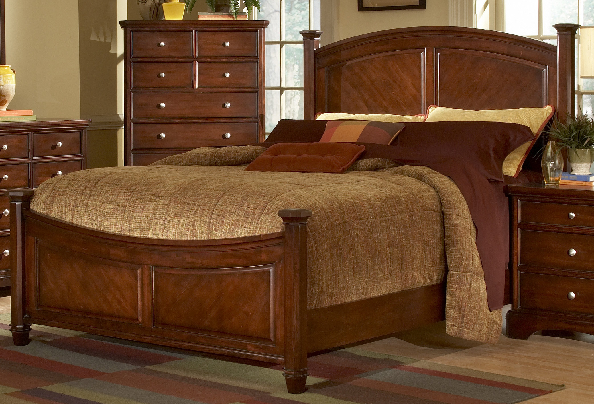 Homelegance laurel heights bed cherry 982c 1 Wooden bed furniture