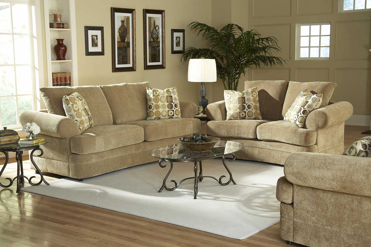 Chenille Sofa Set Homelegance Sutton Sofa Collection In Camel Chenille U9839cm Thesofa