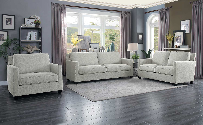 Homelegance Pickerington Sofa Set - Light gray
