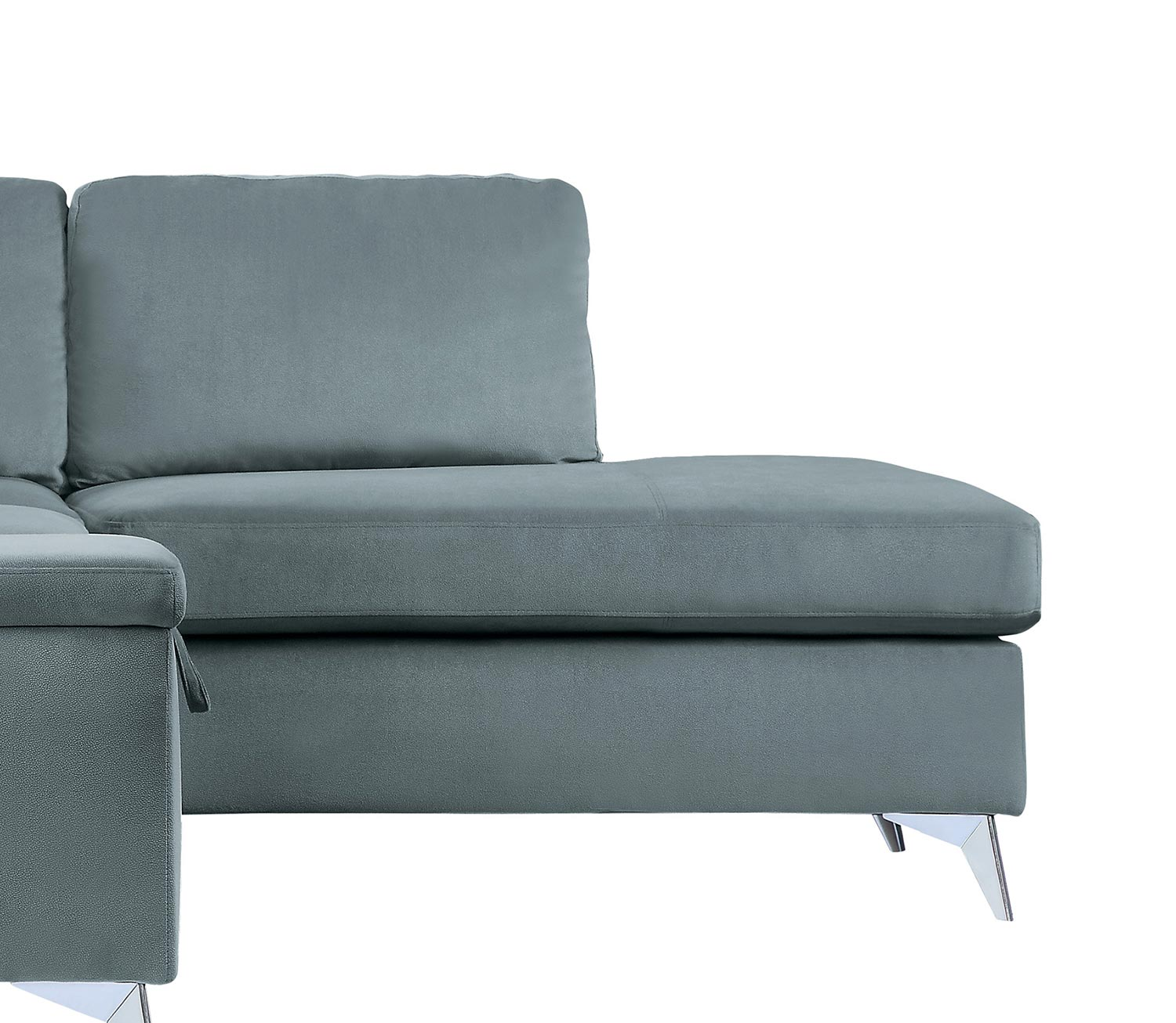 Homelegance Radnor Reversible Chaise, Left/Right Unit - Gray