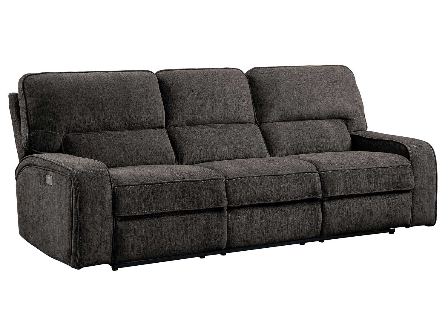 Homelegance Borneo Double Reclining Sofa - Chocolate