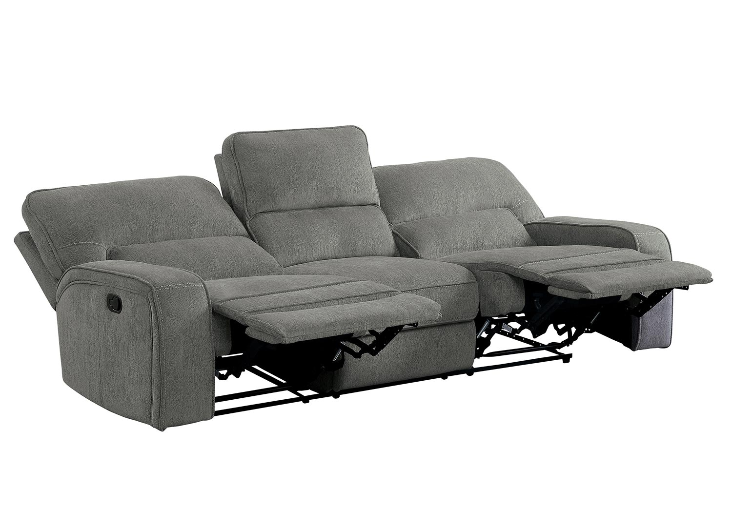 Homelegance Borneo Double Reclining Sofa - Mocha