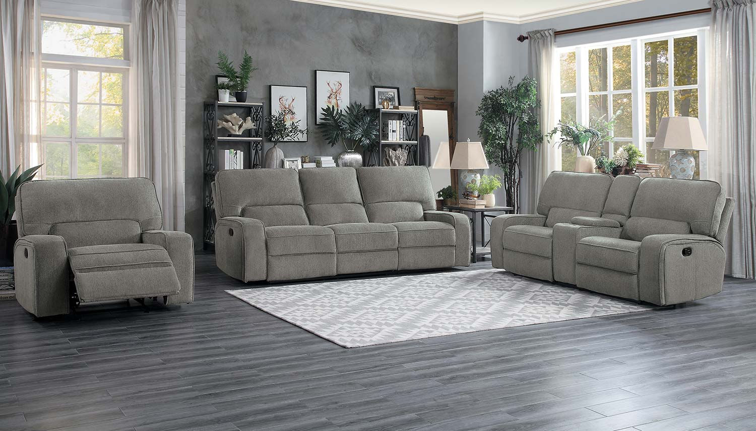 Homelegance Borneo Power Reclining Sofa Set - Mocha