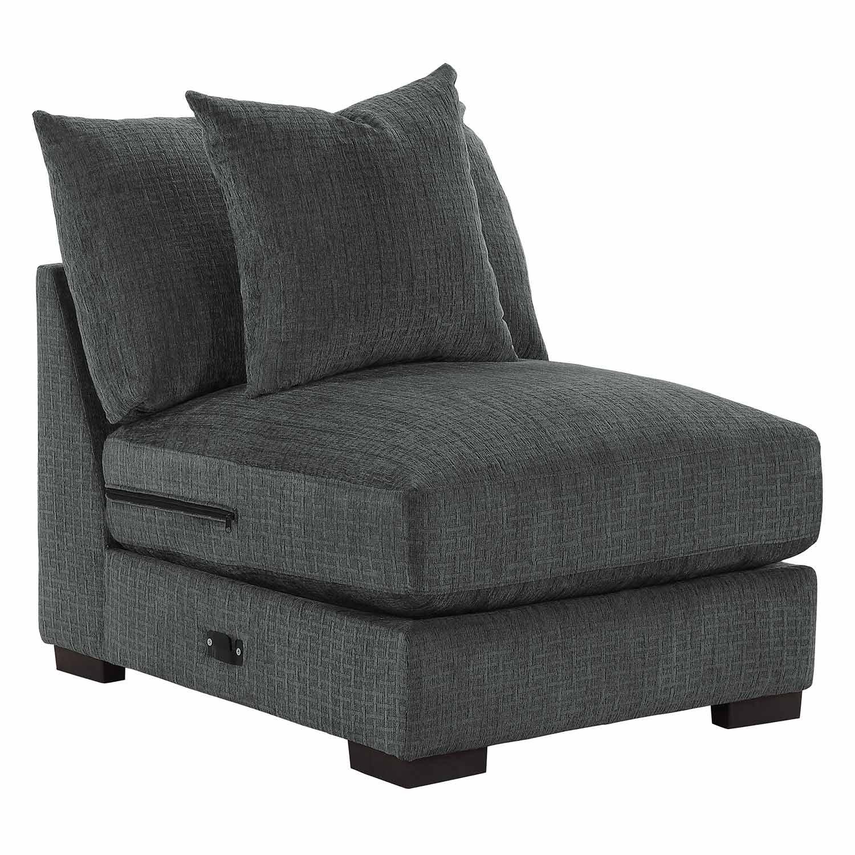 Homelegance Worchester Armless Chair - Dark gray