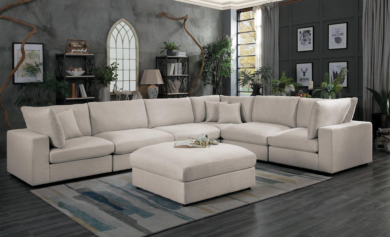 Homelegance Casoria Sectional Sofa Set - Neutral