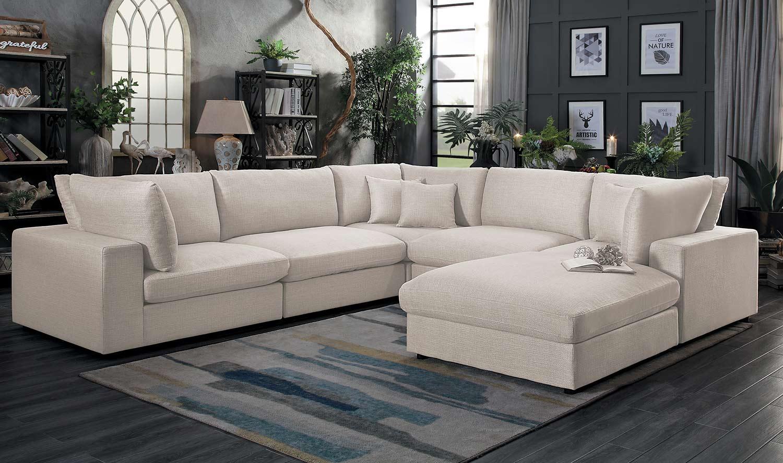 Sensational Homelegance Casoria Sectional Sofa Set Neutral Bralicious Painted Fabric Chair Ideas Braliciousco