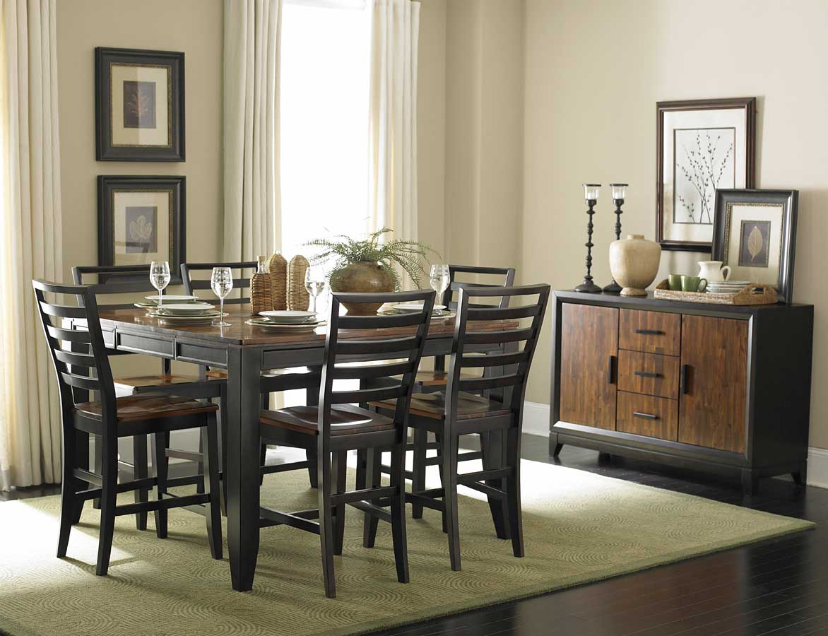Homelegance adrienne lynn counter height dining table 987 for 2 tone dining room sets