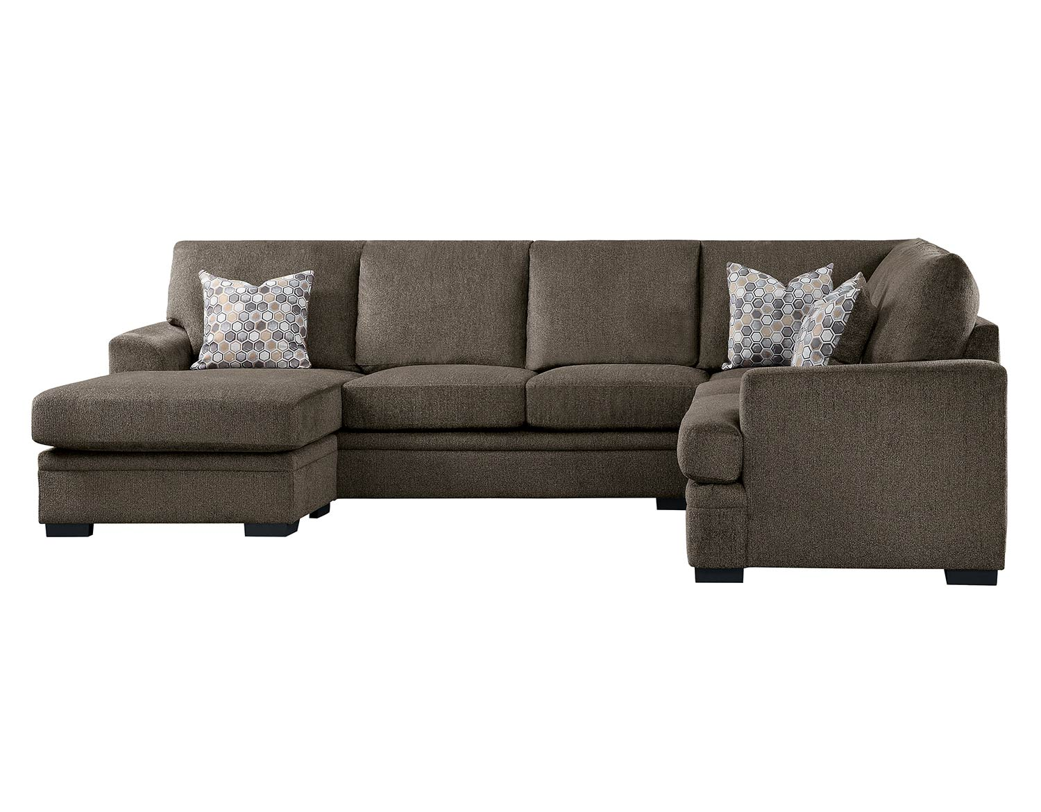 Homelegance Maddy Sectional Sofa Set - Brown