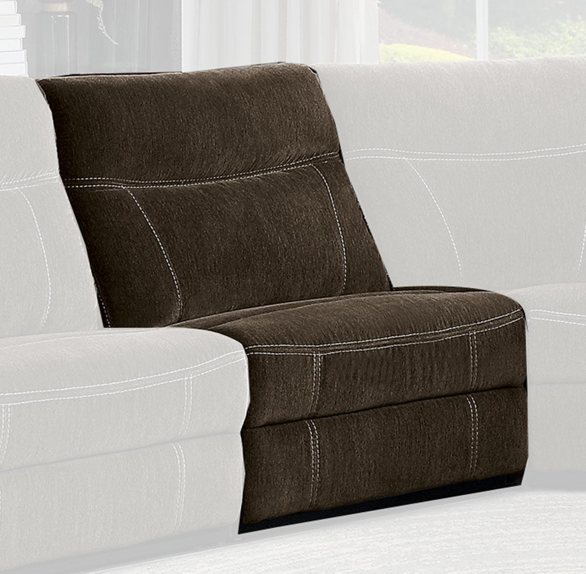 Homelegance Annabelle Armless Chair - Brown