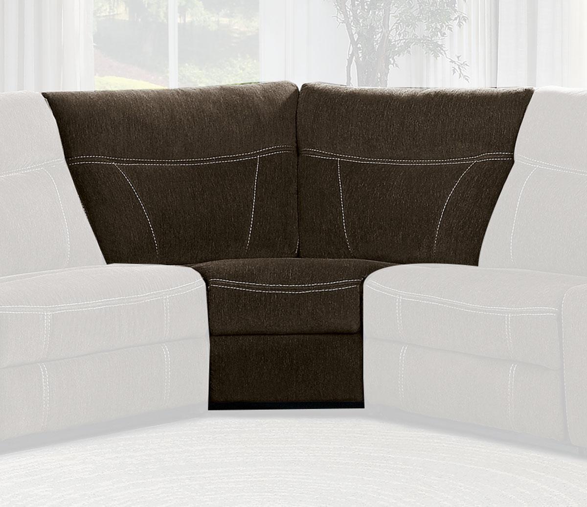 Homelegance Annabelle Corner Seat - Brown