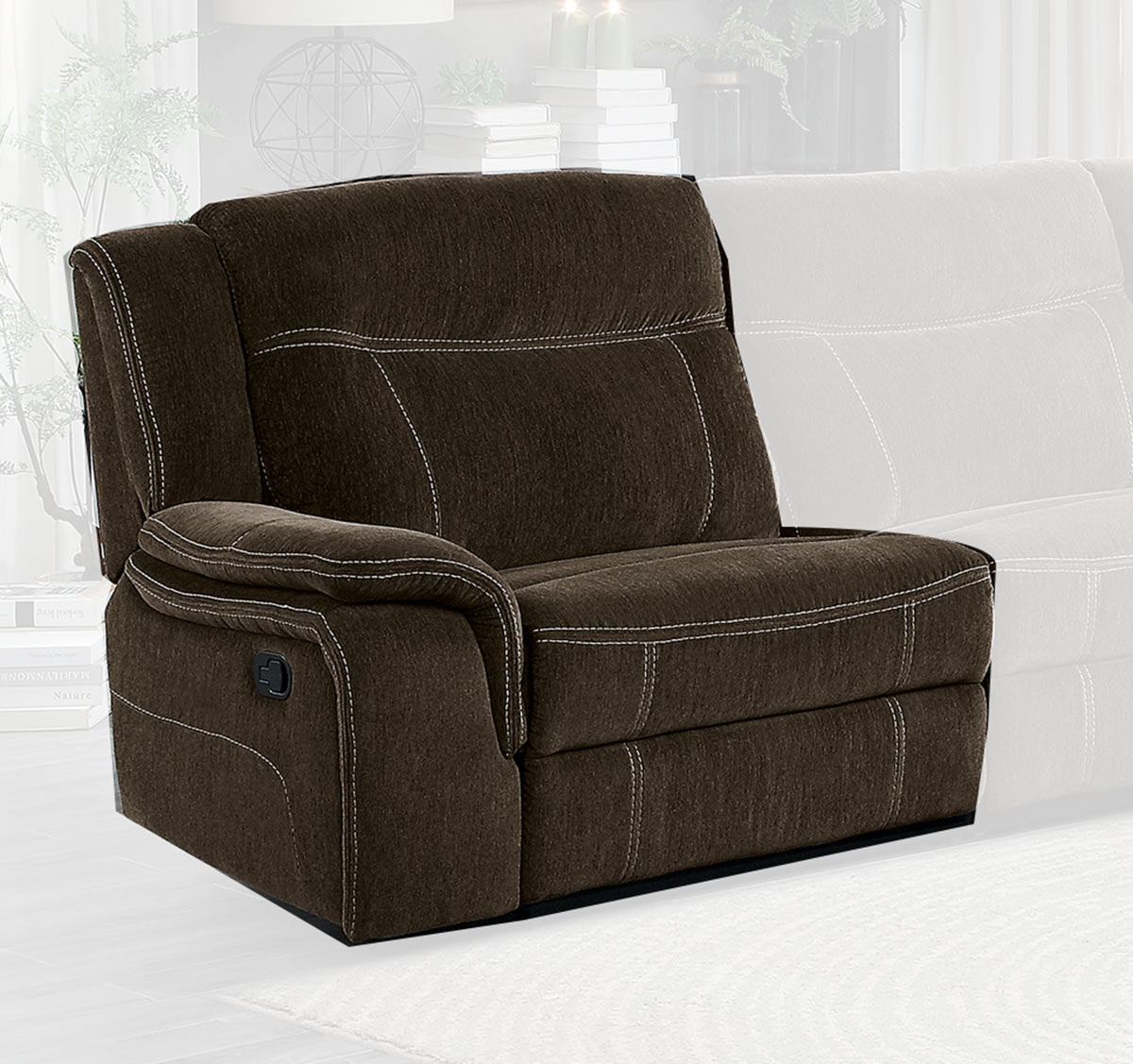 Homelegance Annabelle Left Side Reclining Chair - Brown