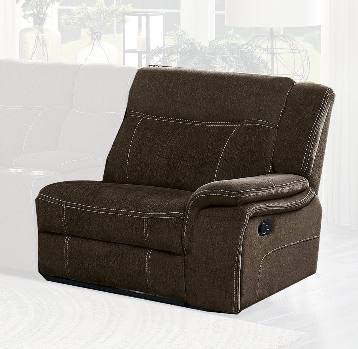 Homelegance Annabelle Right Side Reclining Chair - Brown