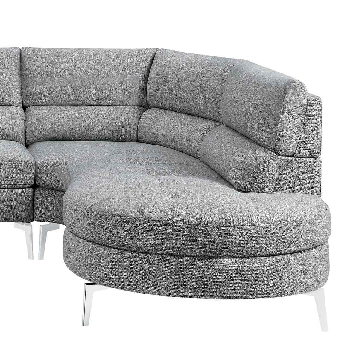 Homelegance Bonita Right Side Chaise - Gray