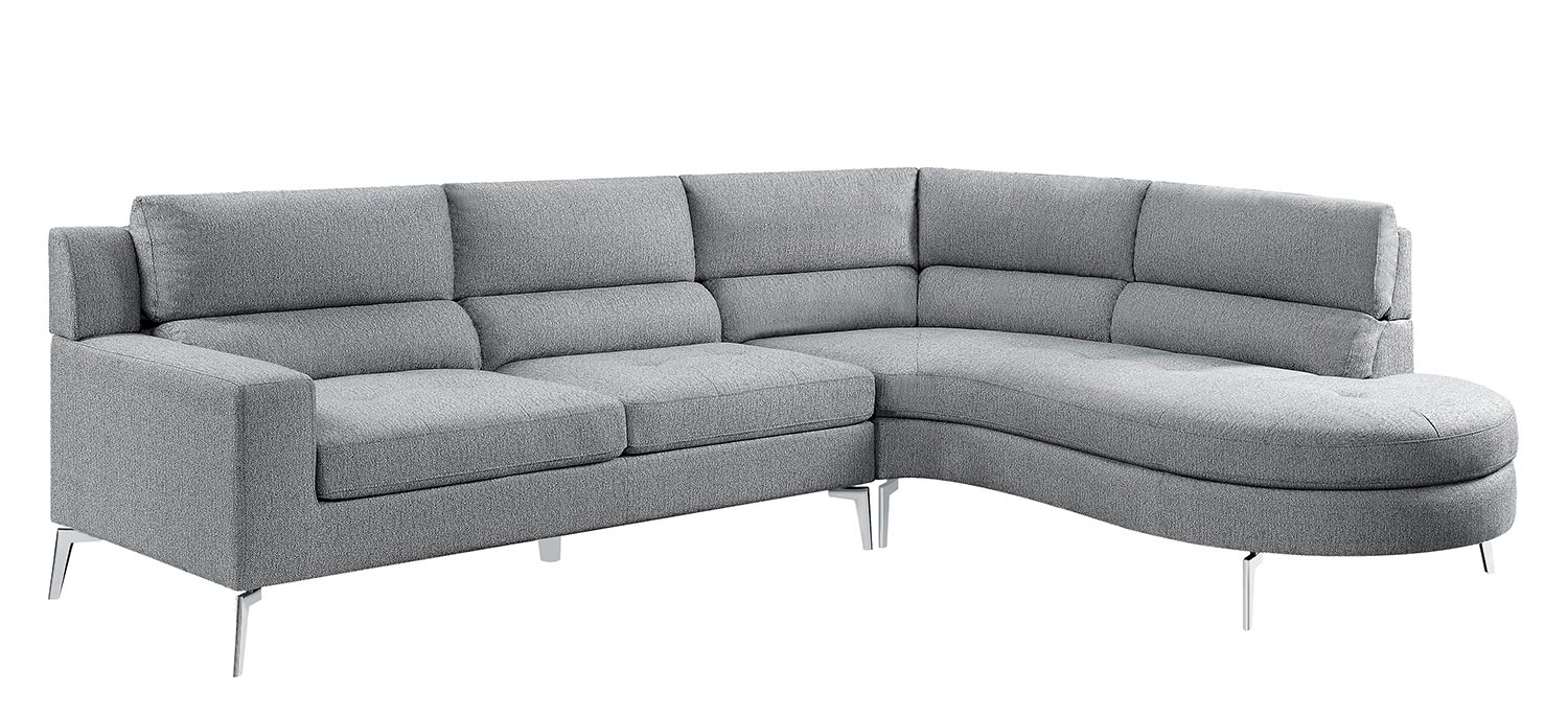 Homelegance Bonita Sectional Sofa Set - Gray