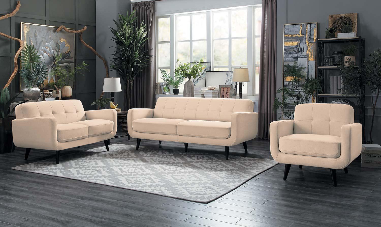 Homelegance Monroe Sofa Set - Beige