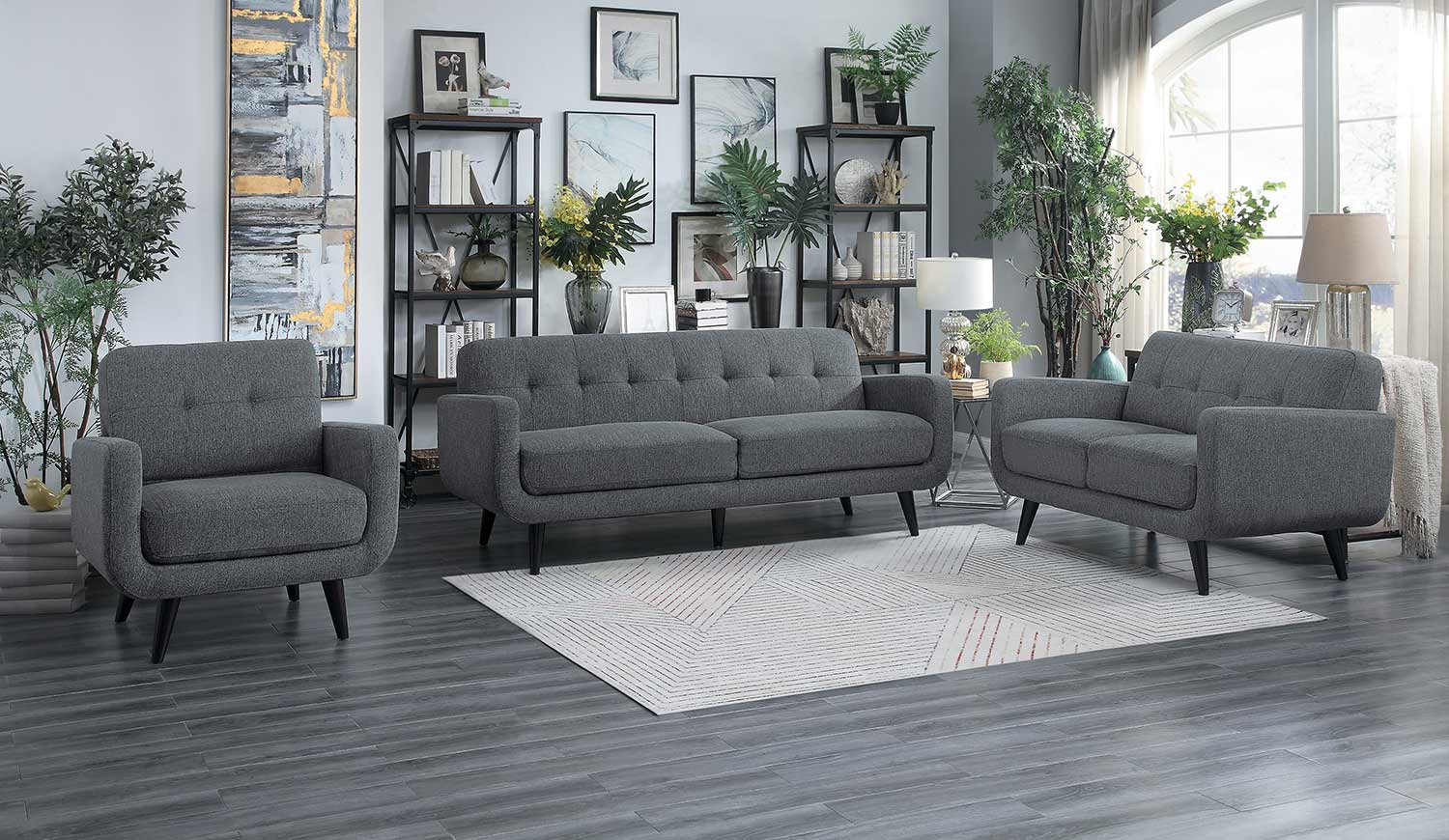 Homelegance Monroe Sofa Set - Gray
