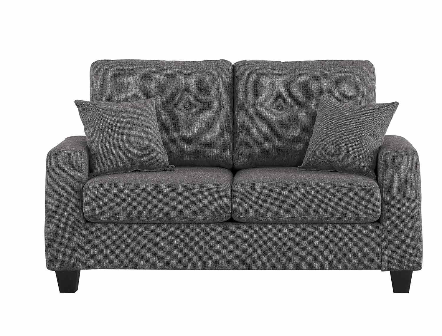 Homelegance Vossel Love Seat - Gray