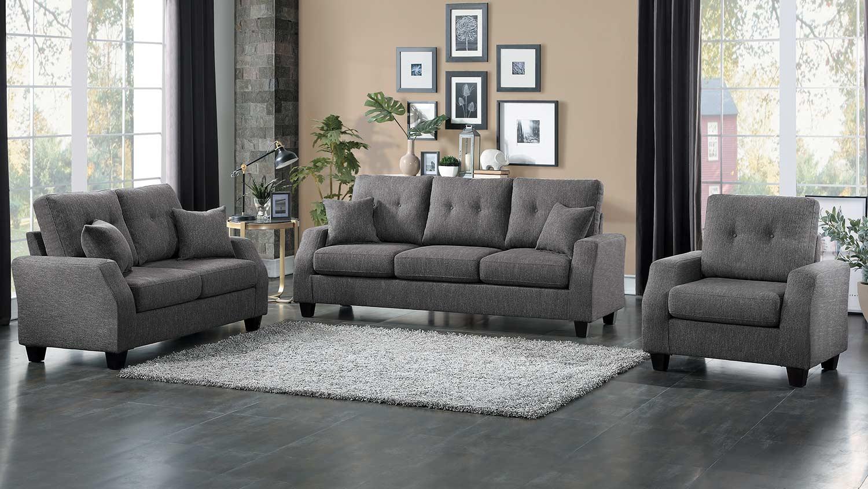 Homelegance Vossel Sofa Set - Gray