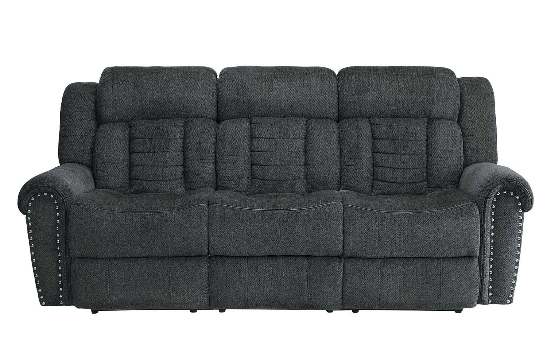 Homelegance Nutmeg Double Reclining Sofa - Charcoal Gray