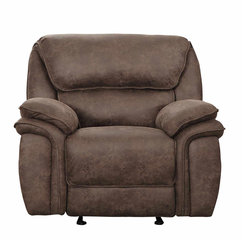 Homelegance Hadden Glider Reclining Chair - Dark Brown