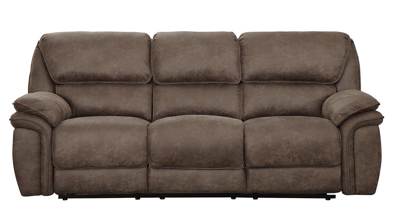 Homelegance Hadden Power Double Reclining Sofa - Dark Brown