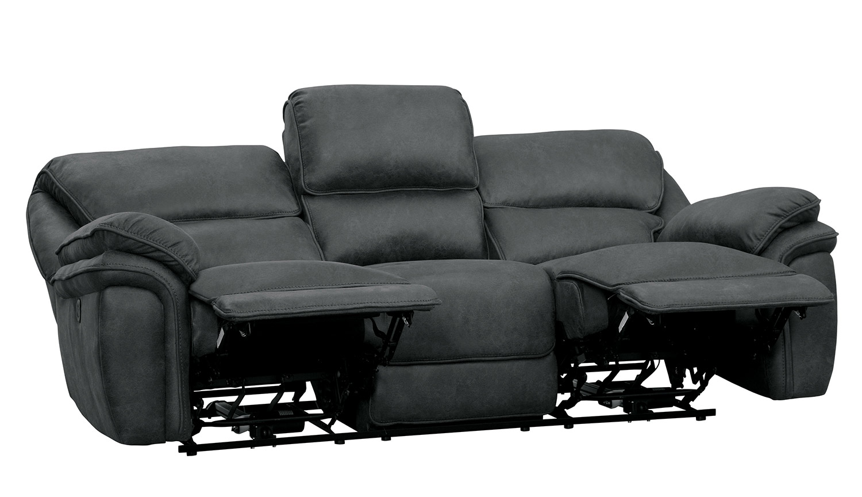 Homelegance Hadden Power Double Reclining Sofa - Gray