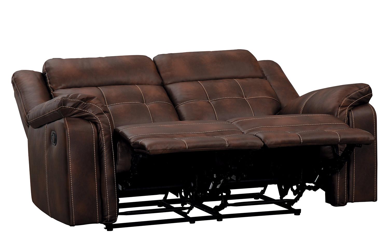 Homelegance Keridge Double Reclining Love Seat - Brown