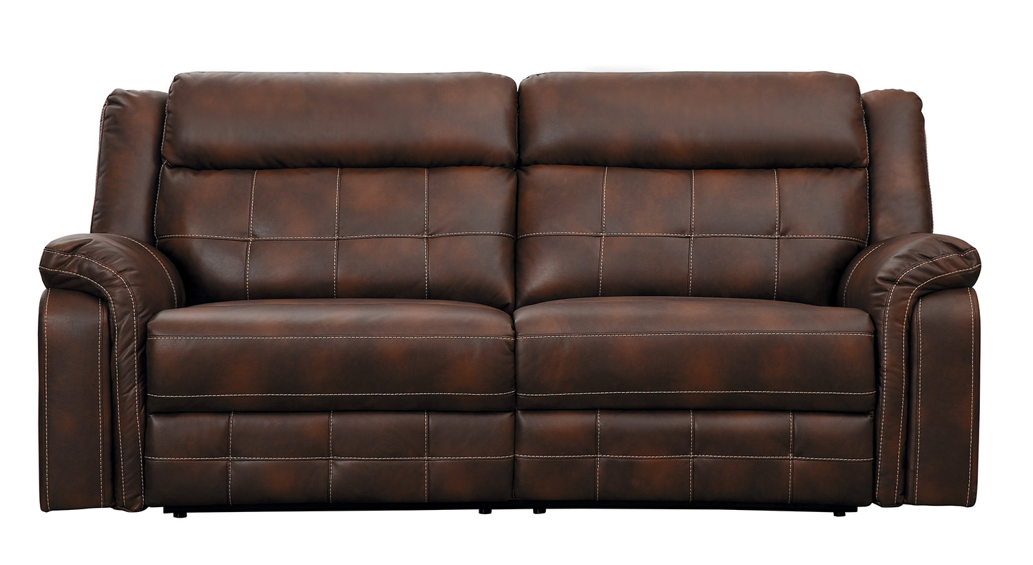 Homelegance Keridge Double Reclining Sofa - Brown