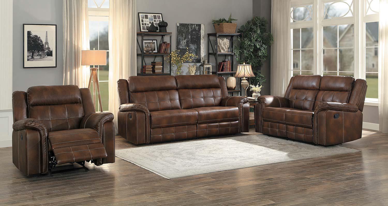 Homelegance Keridge Reclining Sofa Set - Brown