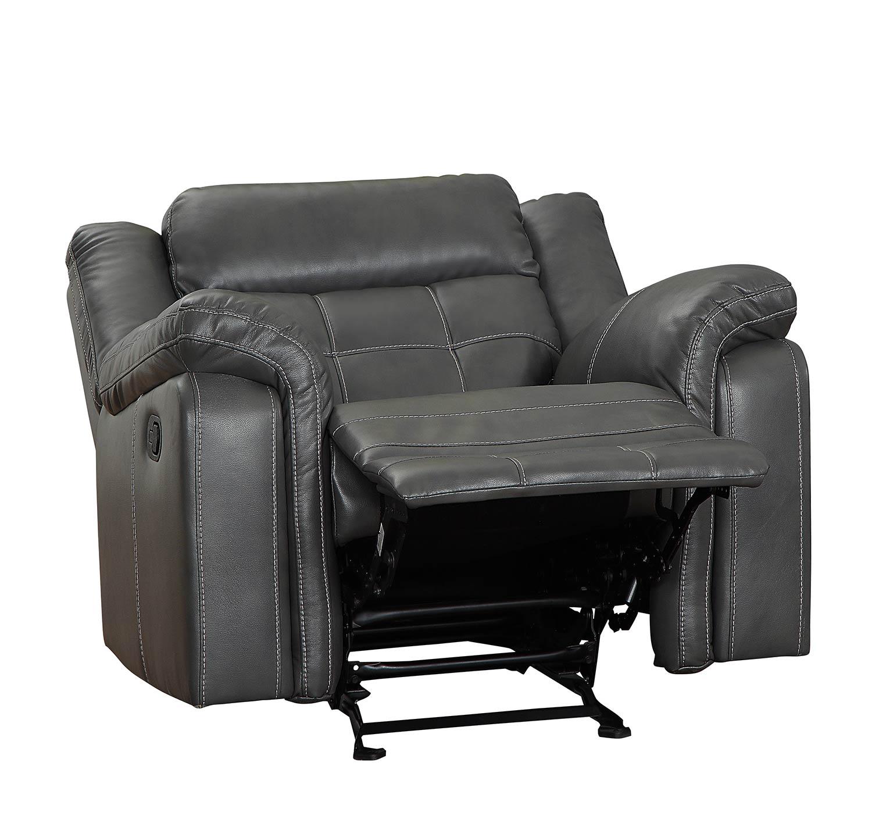 Homelegance Keridge Glider Reclining Chair - Gray AireHyde