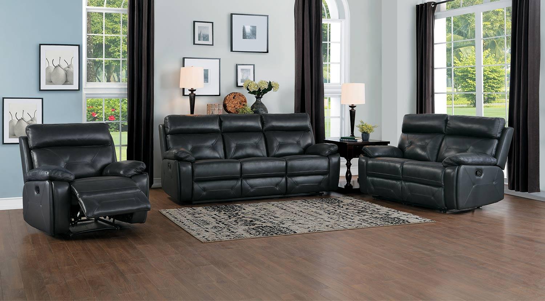 Homelegance Resonance Double Reclining Sofa Set - Dark Gray
