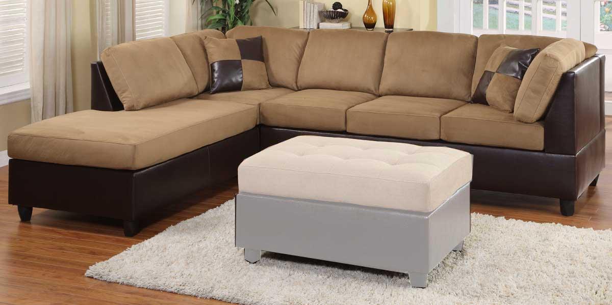 Homelegance Comfort Living Reversible Sectional - Brown Finish