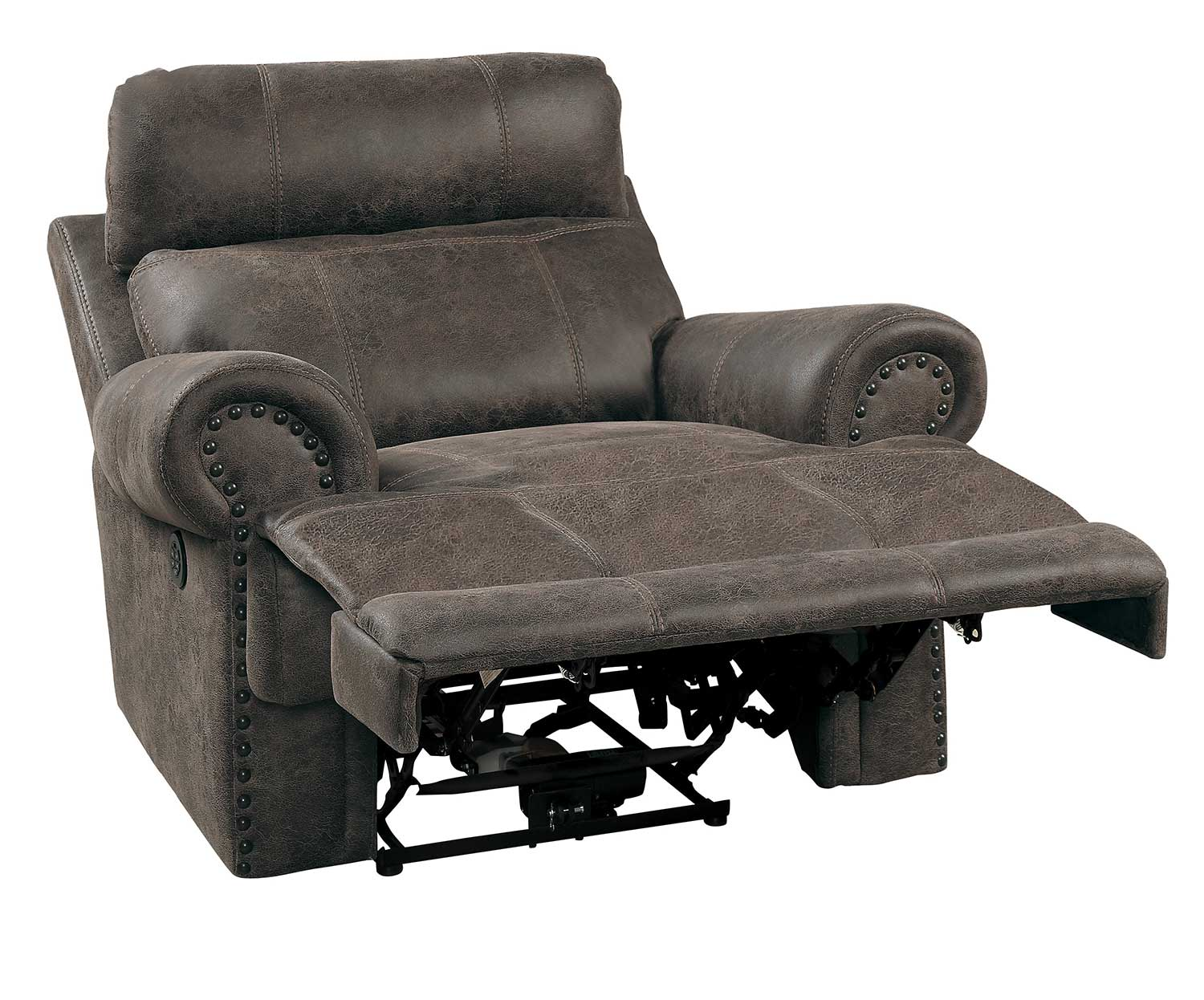 Homelegance Aggiano Power Reclining Chair With Power Headrest - Dark Brown