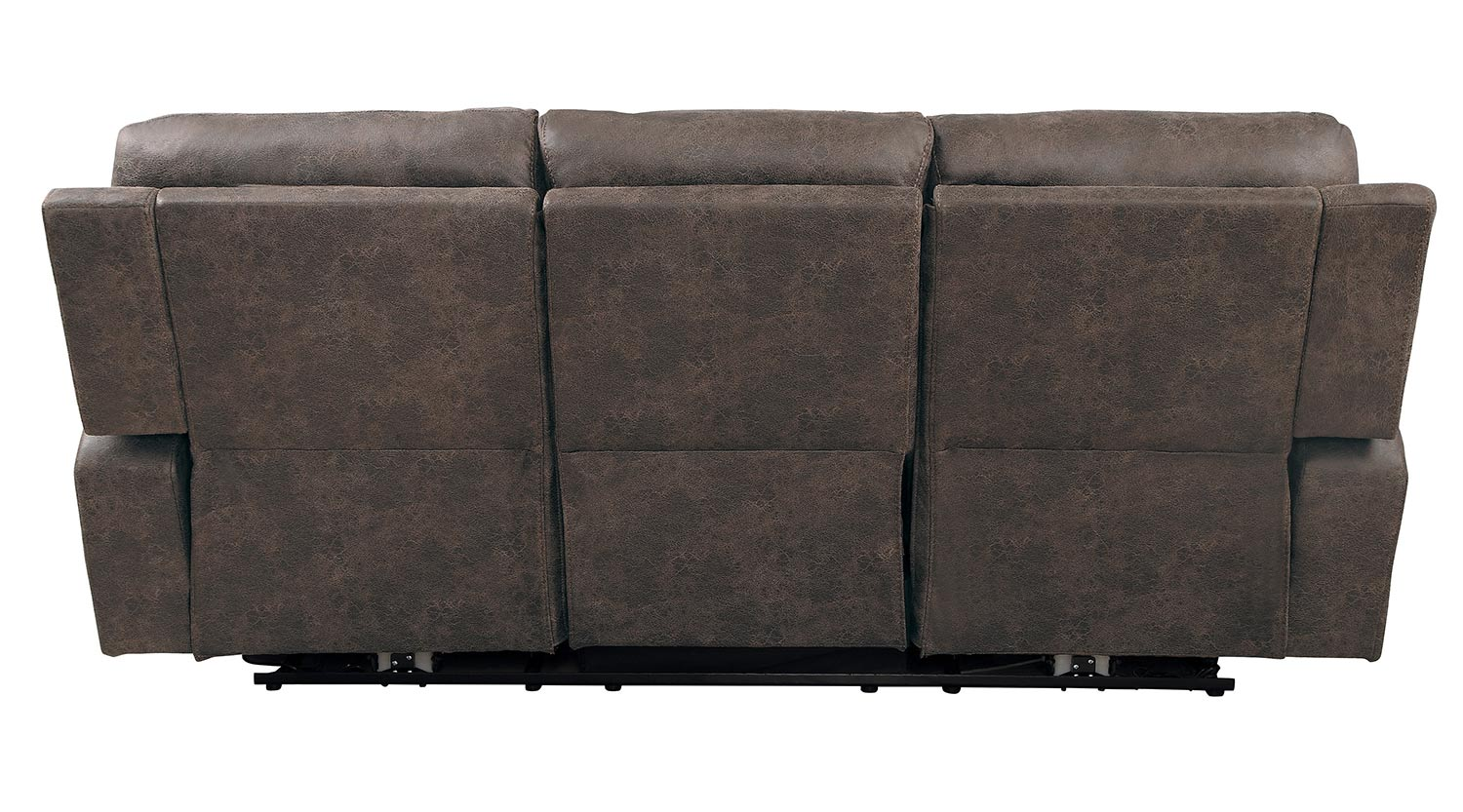 Homelegance Aggiano Power Double Reclining Sofa With Power Headrests - Dark Brown