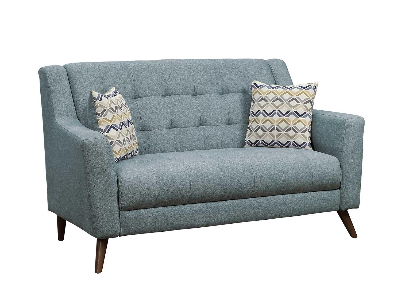 Homelegance Basenji Love Seat - Gray