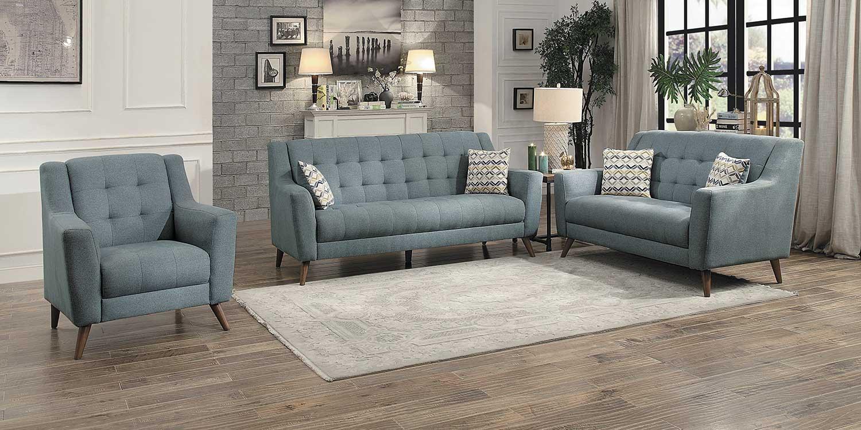 Homelegance Basenji Sofa Set - Gray
