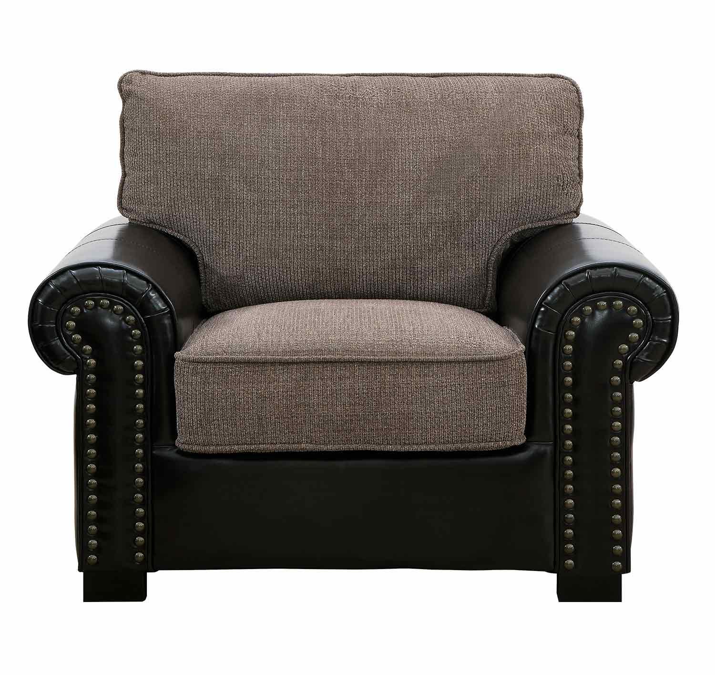 Homelegance Boykin Chair - Brown Chenille