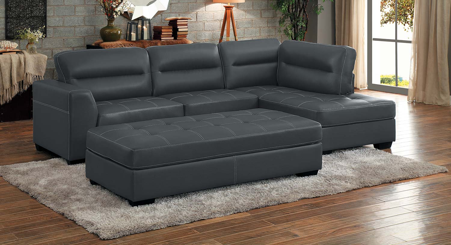 Homelegance Terza Sectional Sofa Set - Gray