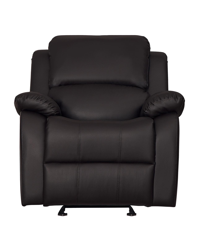 Homelegance Clarkdale Glider Reclining Chair - Dark Brown - Dark brown bi-cast vinyl