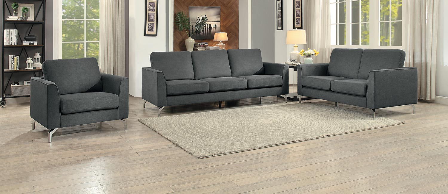 Homelegance Canaan Sofa Set - Gray