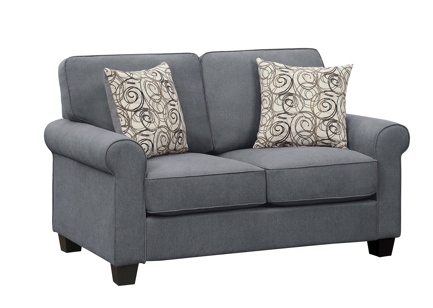 Homelegance Selkirk Love Seat - Gray