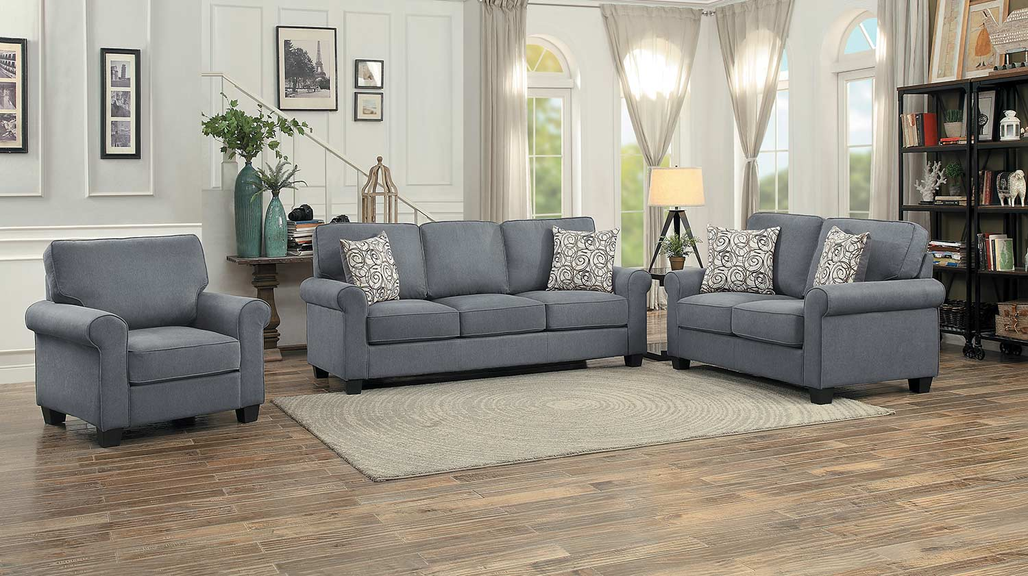 Homelegance Selkirk Sofa Set - Gray